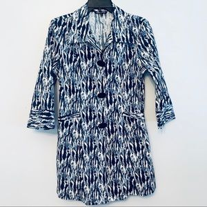 Samuel Dong Trench Jacket Top Blue XS